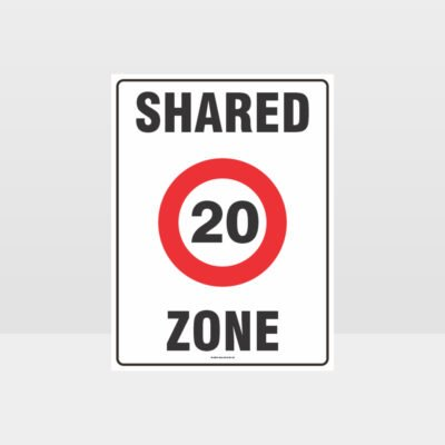 20 Shared Zone Sign