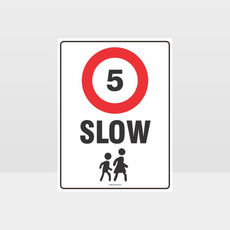 Slow 5KM Sign