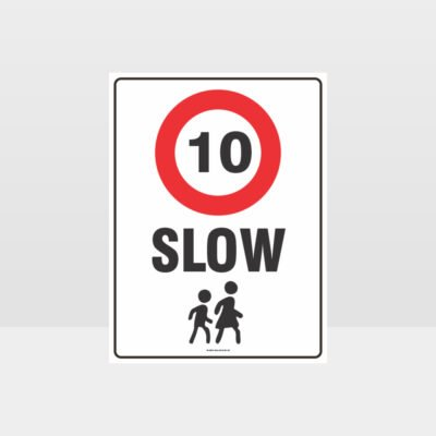 Slow 10KM Sign