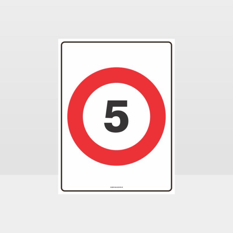 5 KPH Speed Sign