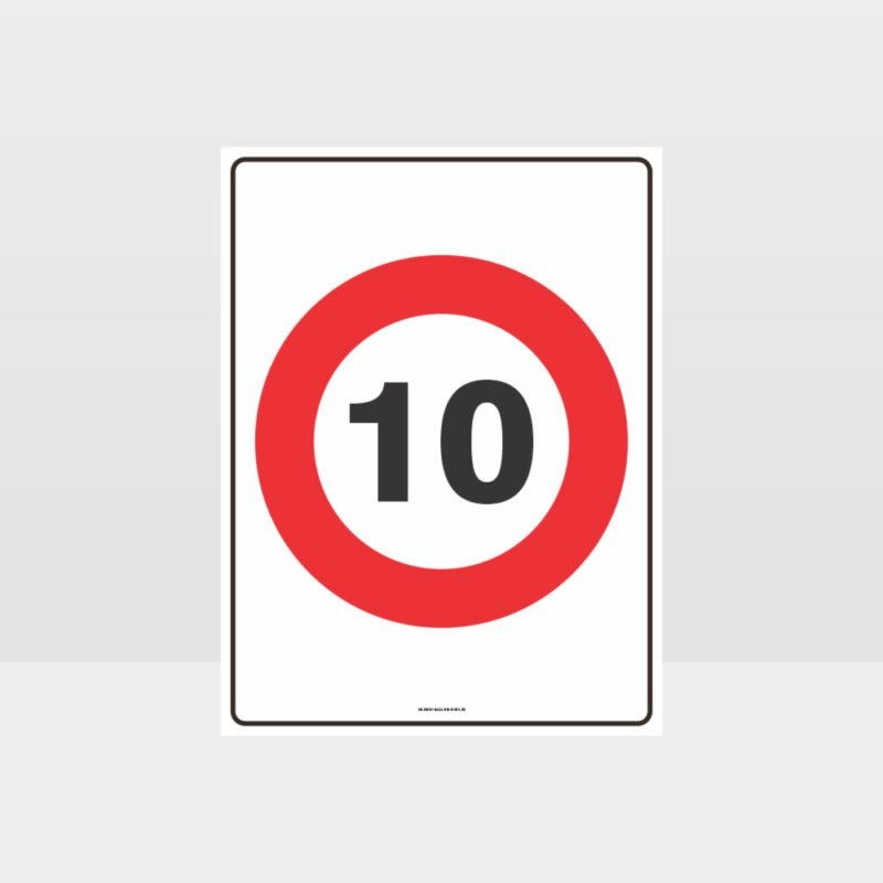 10 KPH Speed Sign