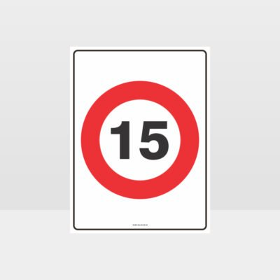 15 KPH Speed Sign
