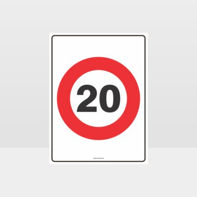 20 KPH Speed Sign