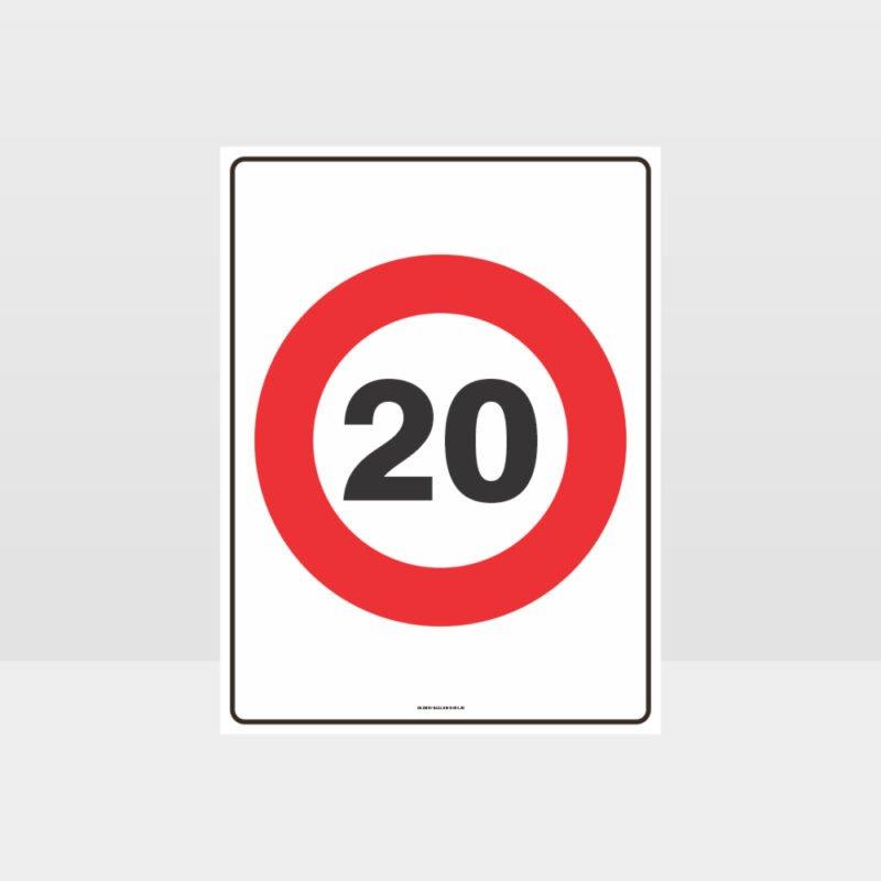 20 KPH Speed Sign