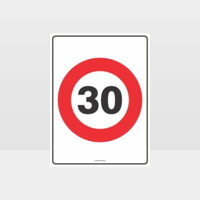 30 KPH Speed Sign