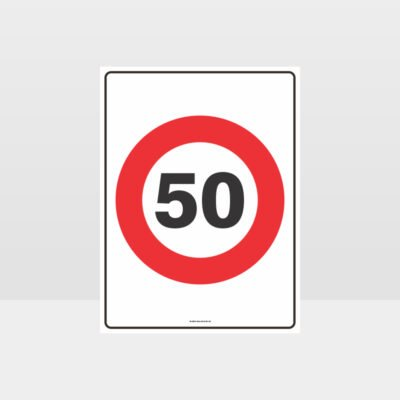 50 KPH Speed Sign