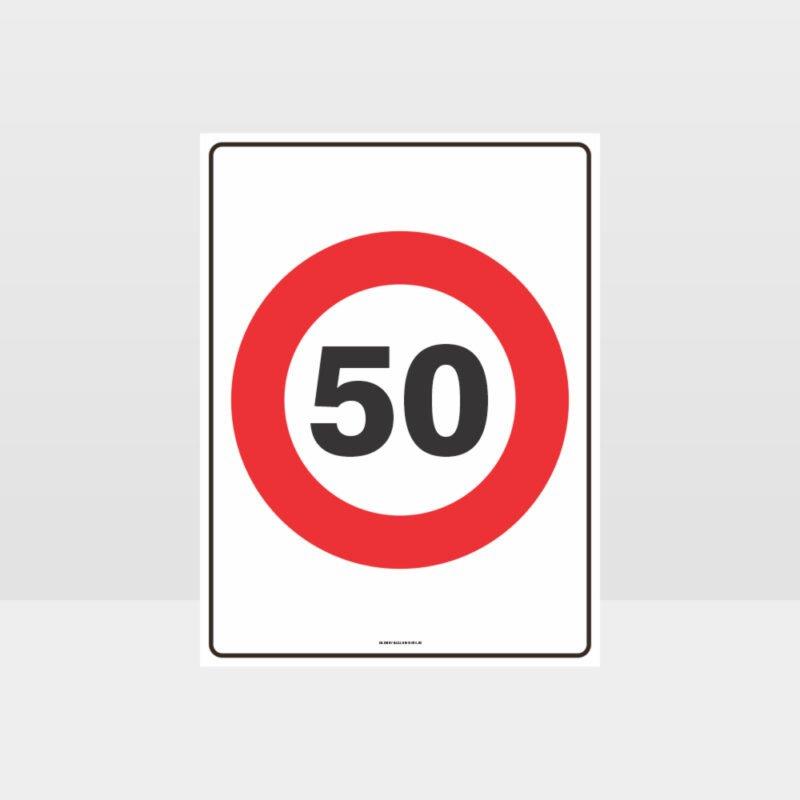 50 KPH Speed Sign