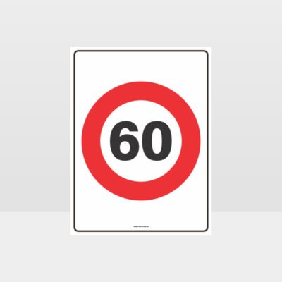 60 KPH Speed Sign