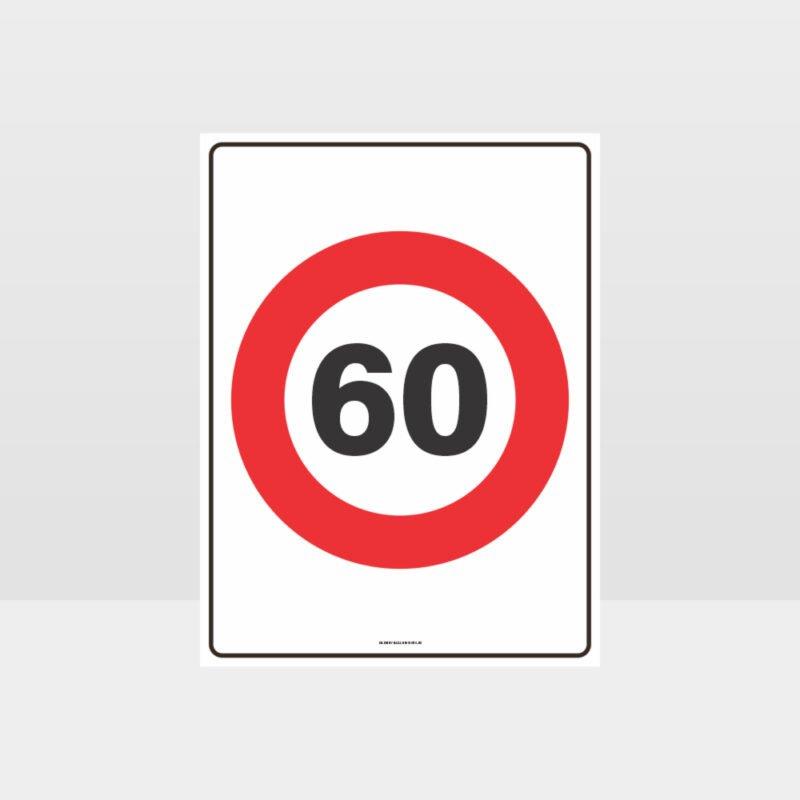 60 KPH Speed Sign