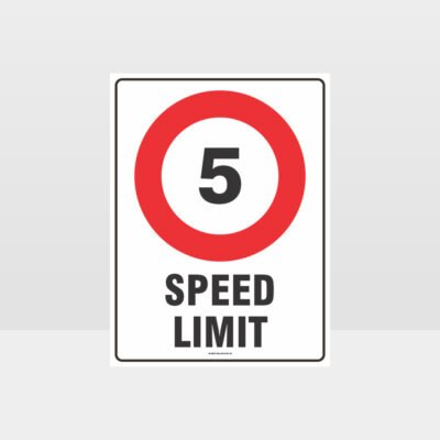 5 KPH Speed Limit Sign