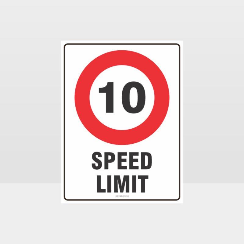 10 KPH Speed Limit Sign