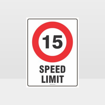 15 KPH Speed Limit Sign