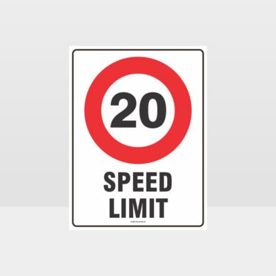 20 KPH Speed Limit Sign