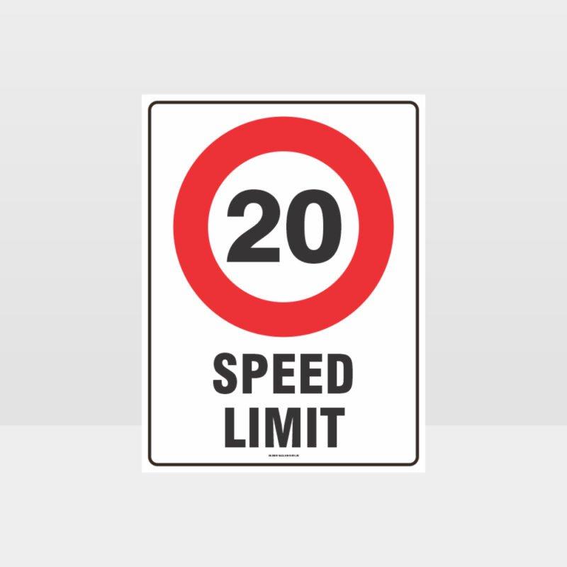 20 KPH Speed Limit Sign