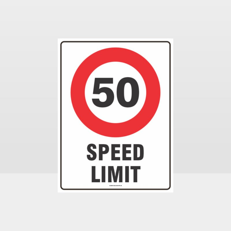 50 KPH Speed Limit Sign