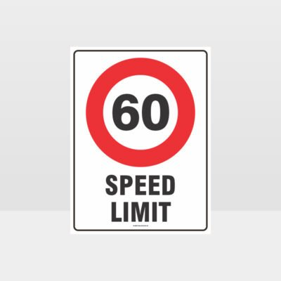 60 KPH Speed Limit Sign