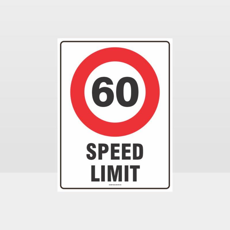 60 KPH Speed Limit Sign