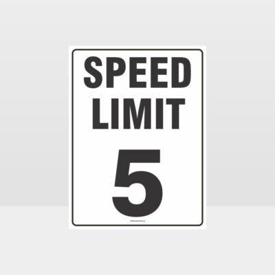 Speed Limit 5 KPH Sign