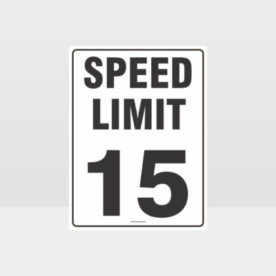 Speed Limit 15 KPH Sign
