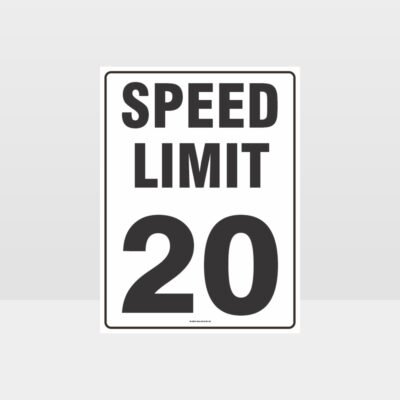 Speed Limit 20 KPH Sign