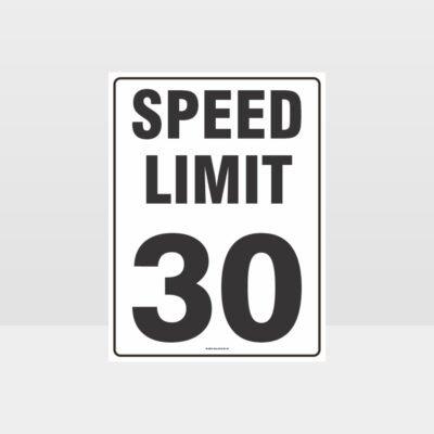 Speed Limit 30 KPH Sign