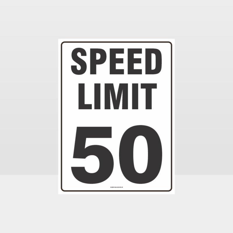 Speed Limit 50 KPH Sign