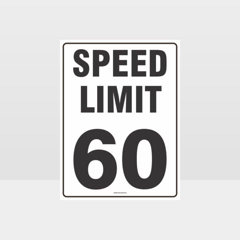 Speed Limit 60 KPH Sign