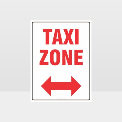 Taxi Zone Left And Right Arrow Sign