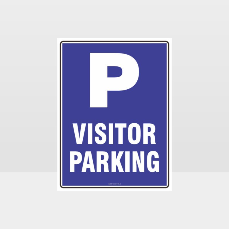 Visitor Parking P Sign