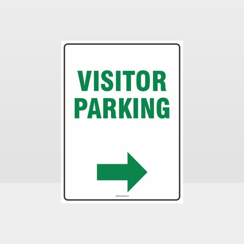 Visitor Parking Right Arrow Sign