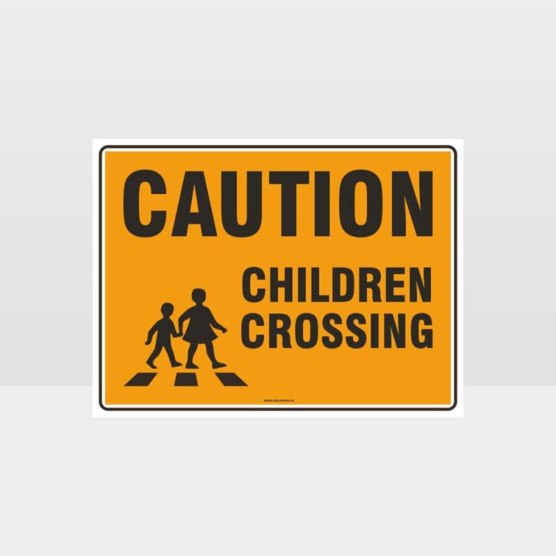 Caution Children Crossing Sign