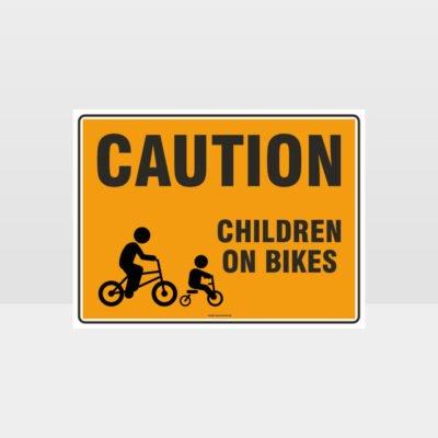 Caution Children On Bikes 01 Sign