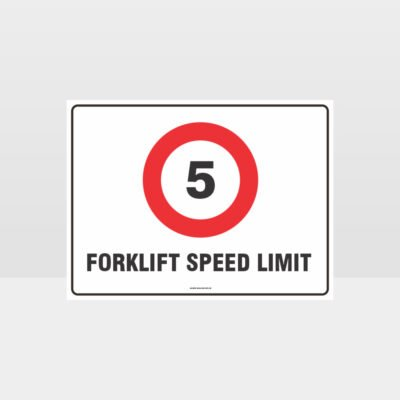 Forklift Speed Limit 5KPH Sign