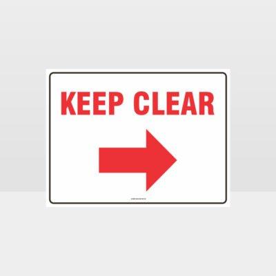Keep Clear Right Arrow sign