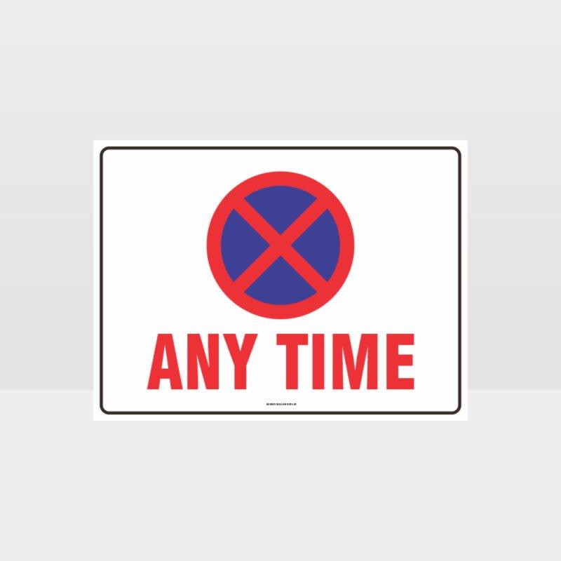 No Parking X Symbol Sign