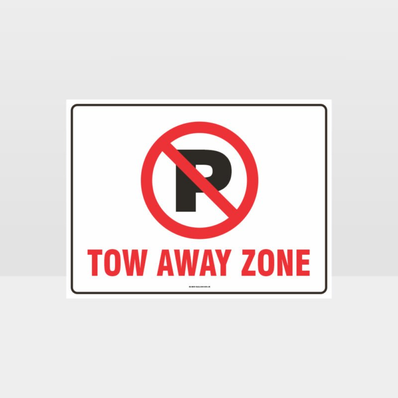 No Parking Tow Away Zone Symbol Sign