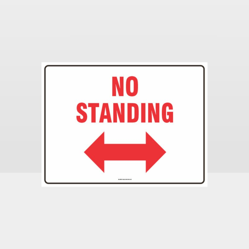 No Standing Left And Right Arrow Sign