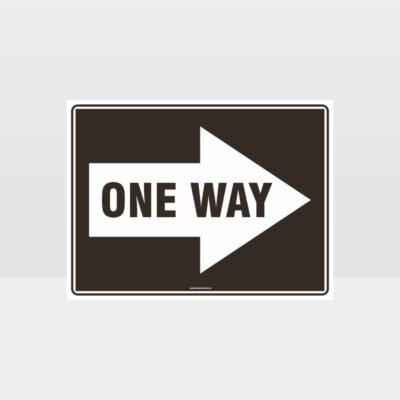 One Way Right Arrow 01 Sign