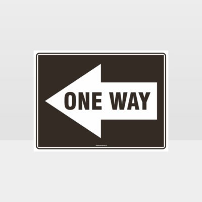 One Way Left Arrow 01 Sign