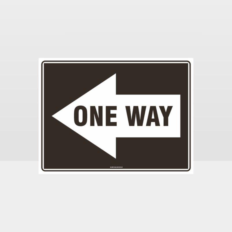 One Way Left Arrow 01 Sign