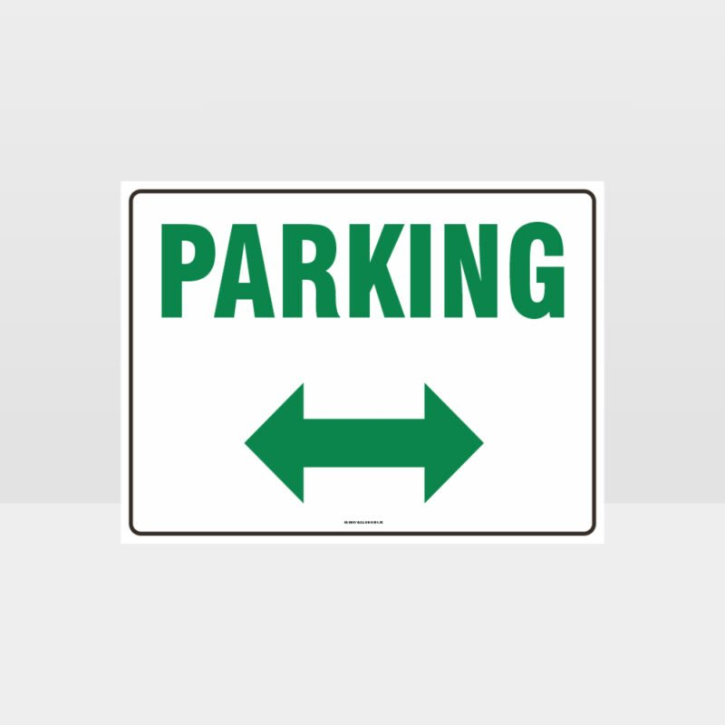 Parking Left And Right Arrow Sign