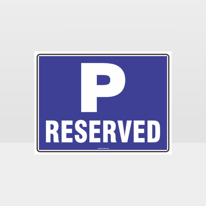 Reserved P Symbol Sign