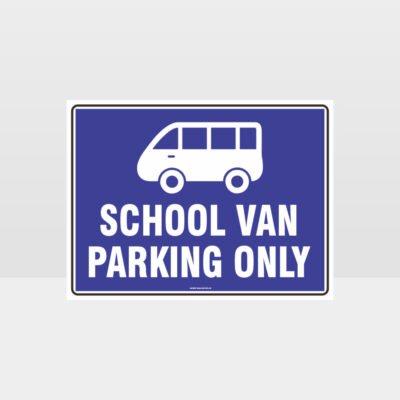 School Van Parking Only Sign