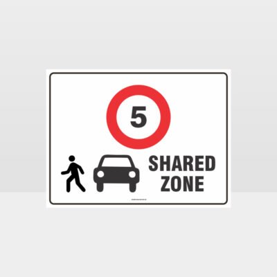 Shared Zone 5KPH L Sign