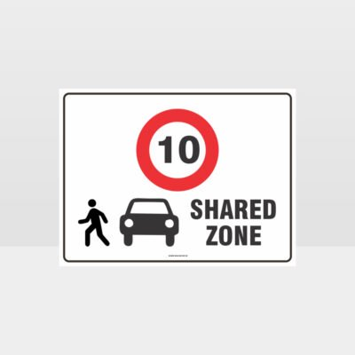 Shared Zone 10KPH L Sign