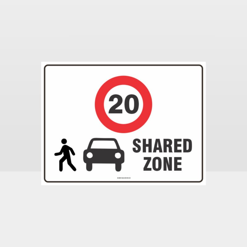 Shared Zone 20KPH L Sign