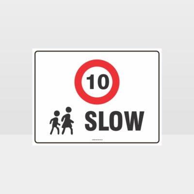 Slow 10KPH L Sign