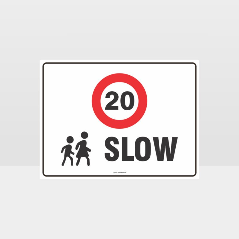 Slow 20KPH L Sign