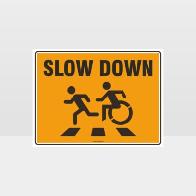Slow Down Orange L Sign