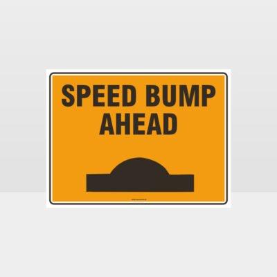 Speed Bump Ahead L Sign